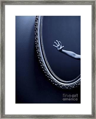 The Mirror Framed Print by Diane Diederich