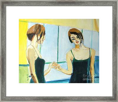 The Mirror Has Two Faces Framed Print by Judy Kay