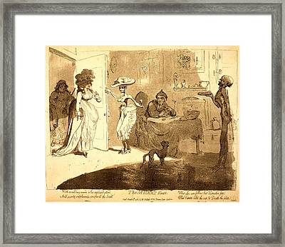 The Misers Feast, Gillray, James, 1756-1815 Framed Print by Litz Collection