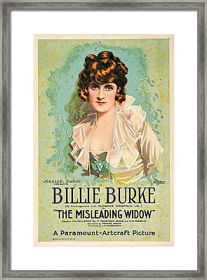The Misleading Widow, Billie Burke Framed Print by Everett