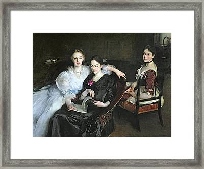 The Misses Vickers, 1884 Framed Print