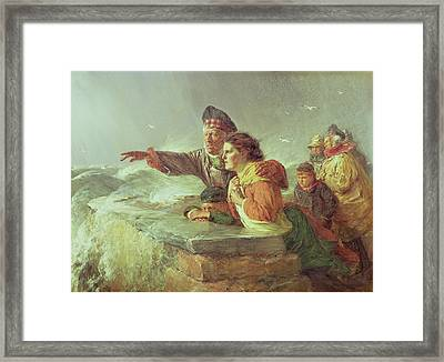 The Missing Boat, C.1876 Framed Print