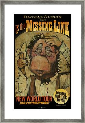 The Missing Link Poster Framed Print by Tim Nyberg