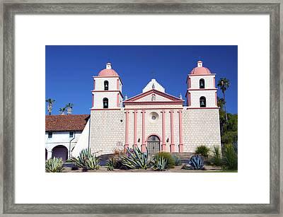 The Mission At Santa Barbara California Framed Print by Barbara Snyder
