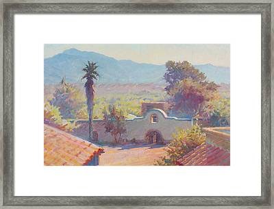 The Mission At Tubac Framed Print by Ernest Principato