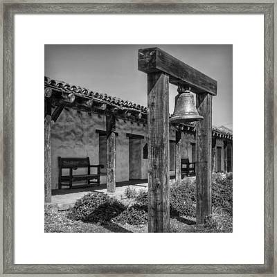 The Mission Bell B/w Framed Print
