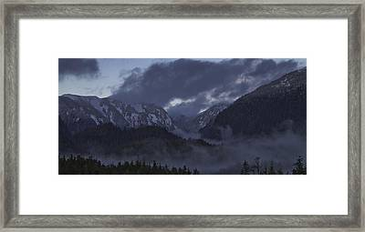Framed Print featuring the pyrography The Mist by Timothy Latta