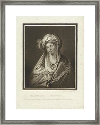 The Mistress Of Raphael, Print Maker Charles Howard Hodges Framed Print by Charles Howard Hodges And Giulio Romano And John Raphael Smith