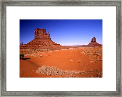 The Mittens Monument Valley Arizona Framed Print