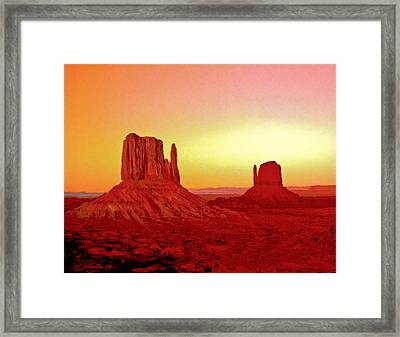 The Mittens Monument Valley Framed Print