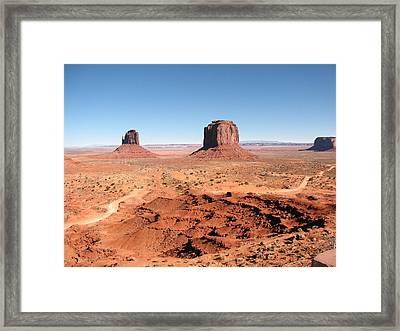 The Mittens Utah Framed Print