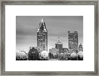 The Mobile Skyline Framed Print by JC Findley