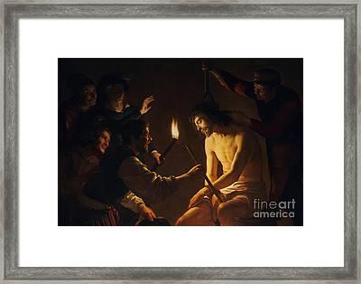 The Mocking Of Christ Framed Print
