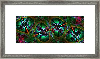 The Mod Quad Framed Print by Lea Wiggins