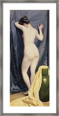 The Model Framed Print by Paul Fischer