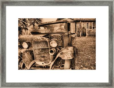 The Model A Framed Print by JC Findley