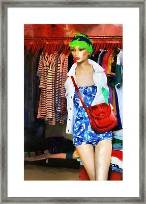 The Model Framed Print by Steve Taylor