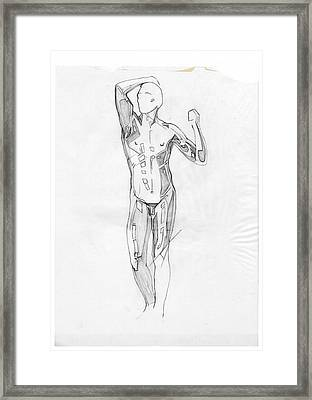 The Modern Age - Homage Rodin Framed Print
