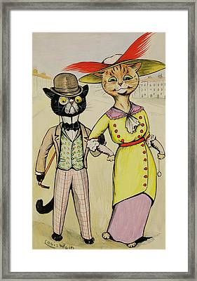 The Modern Arry And Arriet Framed Print by Louis Wain