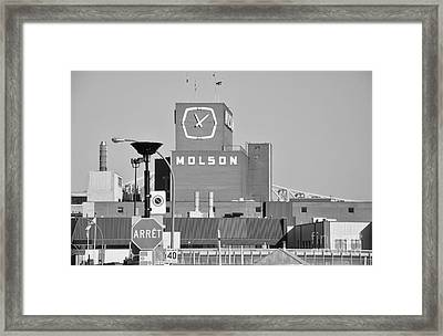 The Molson Clock Montreal Framed Print