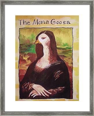 The Mona Goosa Framed Print by Margaret Bobb