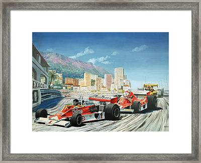 The Monaco Grand Prix Framed Print by English School