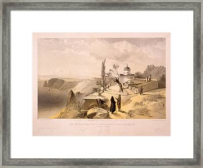 The Monastery Of St. George And Cape Fiolente Framed Print by Litz Collection