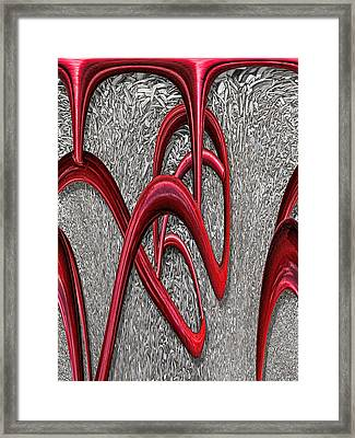 The Monday Lipstick Caper Framed Print by Wendy J St Christopher