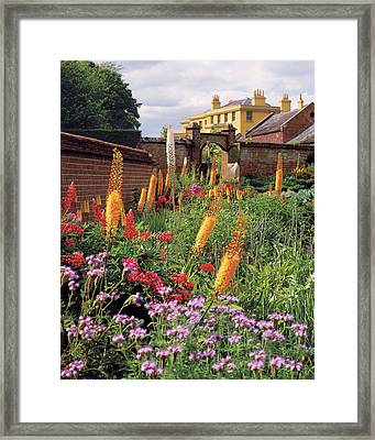 The Mondrian Garden At The Woolton House Framed Print by Alexandre Bailhache