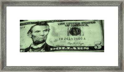 The Money Man Framed Print