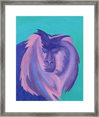 Framed Print featuring the painting The Monkey's Mane by Margaret Saheed