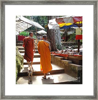 The Monks Have A Rest Framed Print