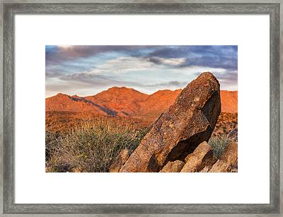 Framed Print featuring the photograph The Monolith by Anthony Citro