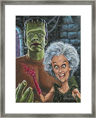 The Monster And His More Intelligent Mate Framed Print