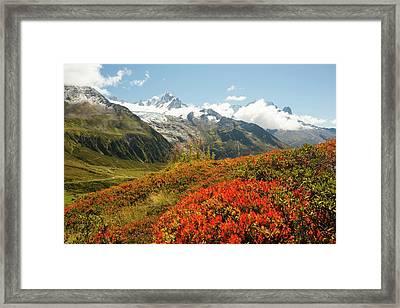 The Mont Blanc Mountain Range Framed Print
