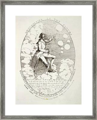The Montgolfier Brothers Framed Print by British Library