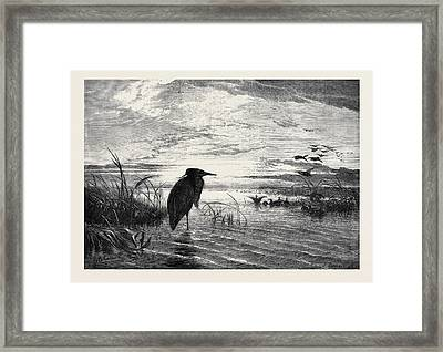 The Months A Solitary Christmas Eve Framed Print