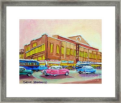 The Montreal Forum Framed Print by Carole Spandau