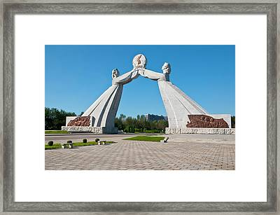 The Monument Of The Three Charter Framed Print by Michael Runkel