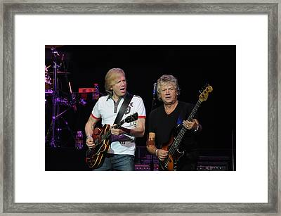 The Moody Blues Justin Hayward And John Lodge 8-8-2009 Framed Print