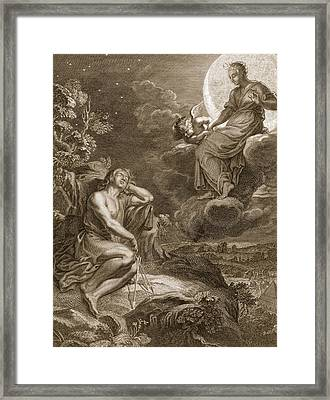 The Moon And Endymion, 1731 Framed Print by Bernard Picart