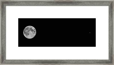The Moon And Mars Framed Print by Joann Vitali