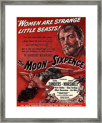 The Moon And Sixpence 1943 1940s Usa Framed Print by The Advertising Archives