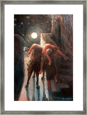 The Moon And The Good Samaritain Framed Print