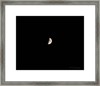 The Moon Framed Print by BandC  Photography