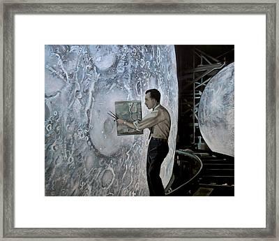 The Moon Builders - Lunar Orbit And Let-down Approach Simulator.  Framed Print by Simon Kregar