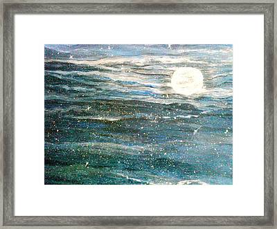 The Moon Charm Framed Print