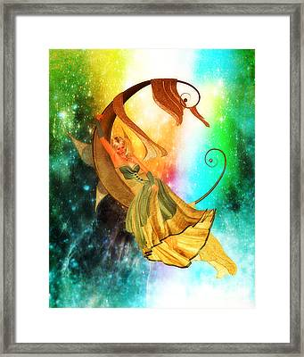 The Moon Child's Ruminations Framed Print by Putterhug  Studio