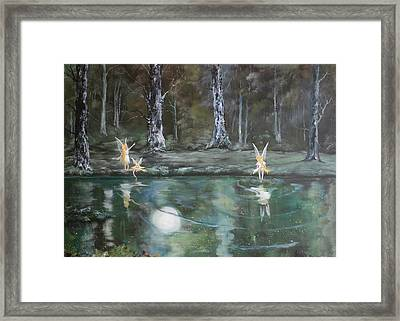 The Moon Fairies Framed Print