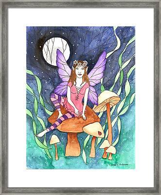The Moon Fairy Framed Print